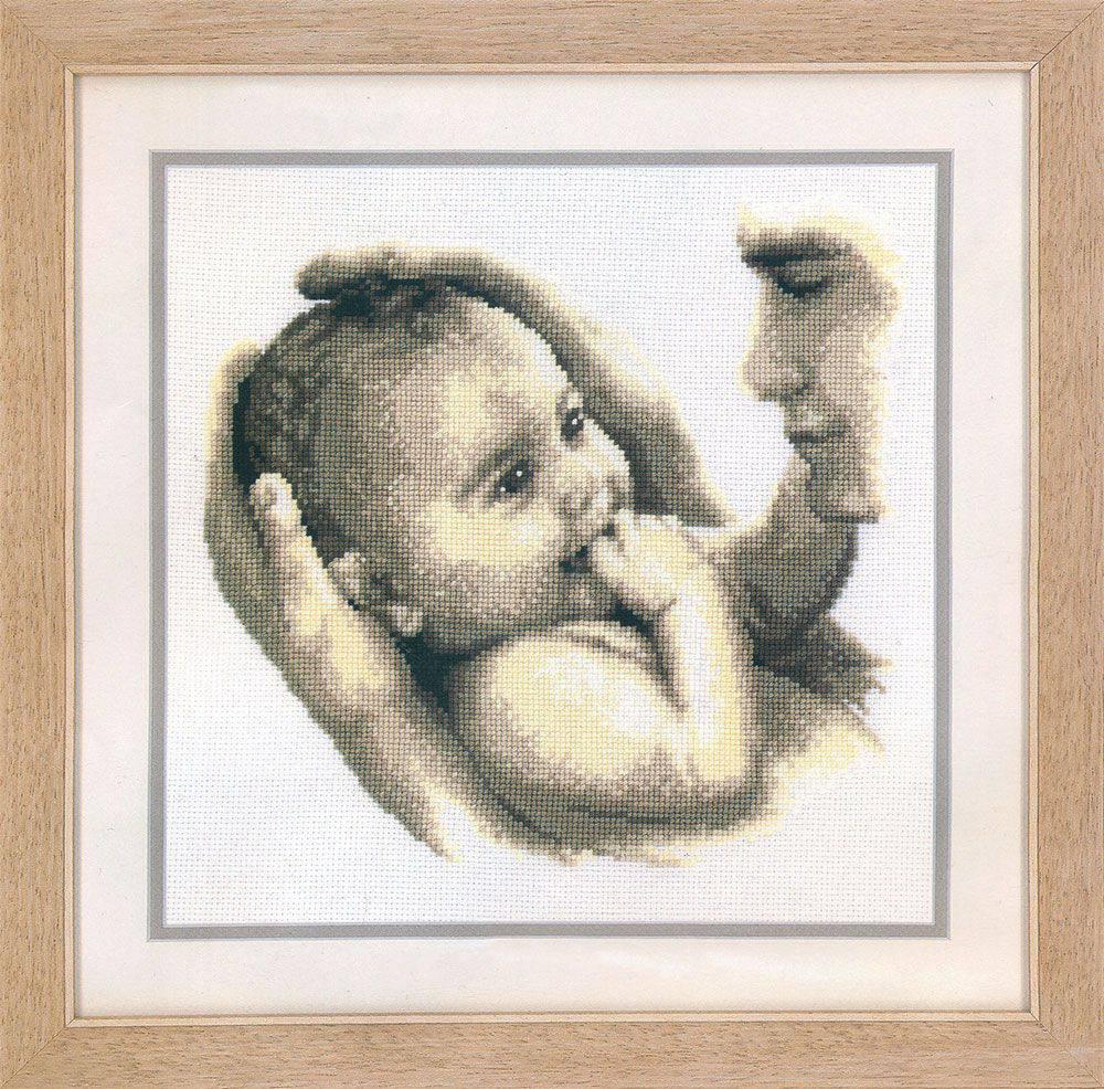 схему вышивки младенец