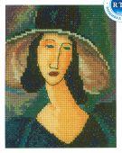 Вышивка женщин в шляпе