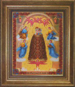 Икона о прибавлении ума вышивка бисером