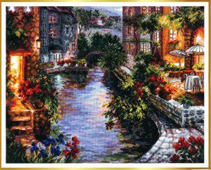 Вышивка вечер в венеции схема