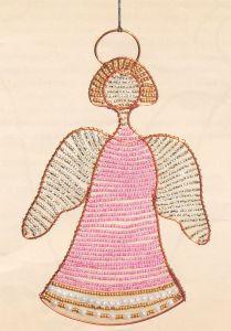 Ангел в розовом бп-83. Вышивка бисером a4338506e363d