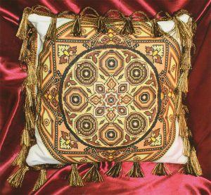 Вышивка золотое руно подушки