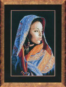 Африканская девушка вышивка ланарте