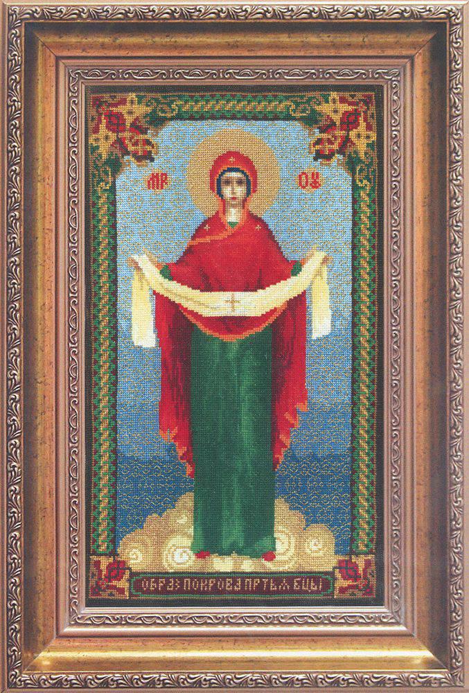 считается фото вышитых крестом иконы покрова семейная