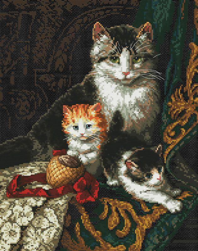 Вышивка с котом картинки