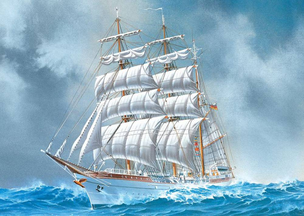 Картинки на морскую тематику с кораблем